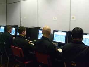 Sala de monitoramento que será usado em fase de testes em Porto Alegre
