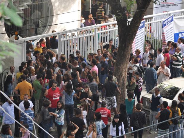 Muita gente apareceu para votar nas eleições do Crefito