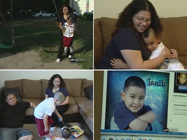 Mobilização em rede social ajudou Lorena Perez a encontrar o filho Isaiah.