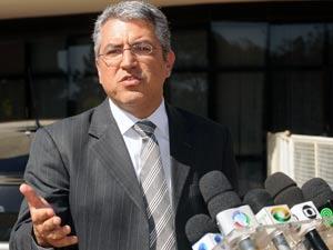 O ministro das Relações Institucionais, Alexandre Padilha, em entrevista após reunião com o presidente Lula nesta segunda (21)