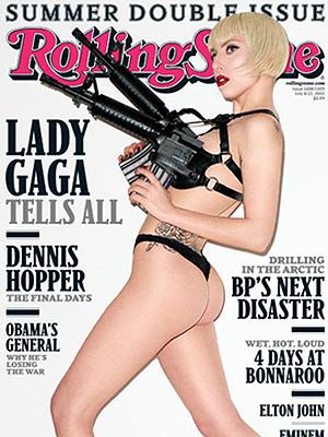 Gaga na capa da 'Rolling Stone' em clique do polêmico Terry Richardson.