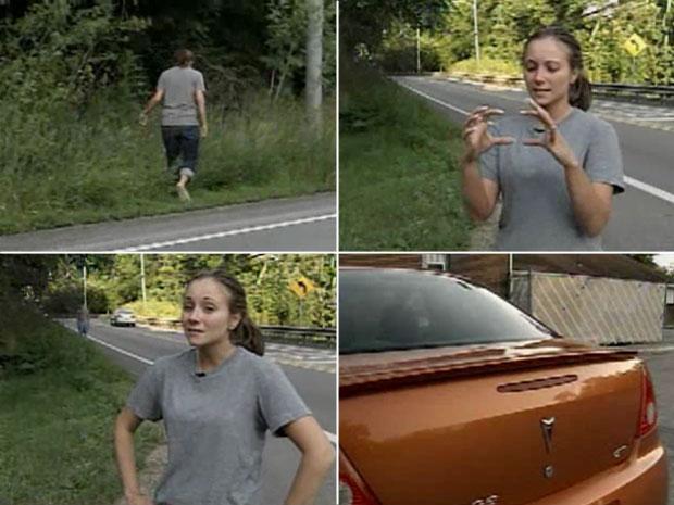 Ashley Marasco fez apelo na TV pelo dinheiro perdido. Noivos tinham deixado envelope no capô do carro