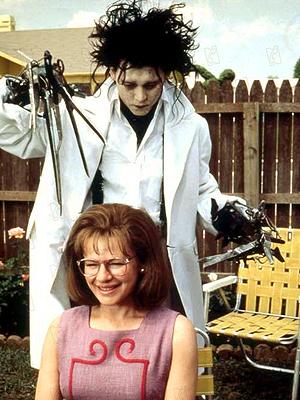 Johnny Depp em cena de 'Edward Mãos de Tesoura'.