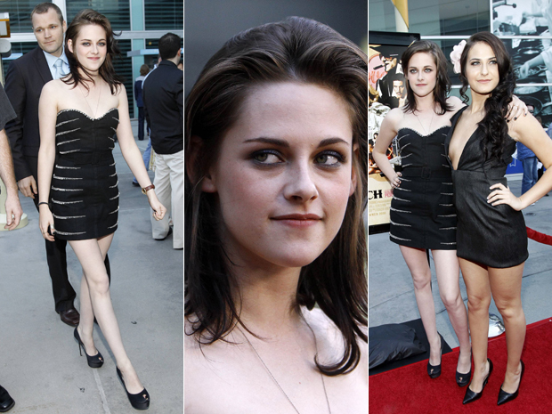 Kristen Stewart surge na première do filme 'Love ranch' em Los Angeles.