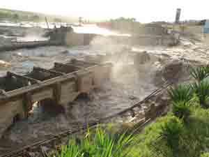 Cheia causou destruição em Rio Largo