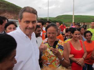 Governador Eduardo Campos durante visita a Jaqueira