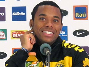 Robinho at the press conference