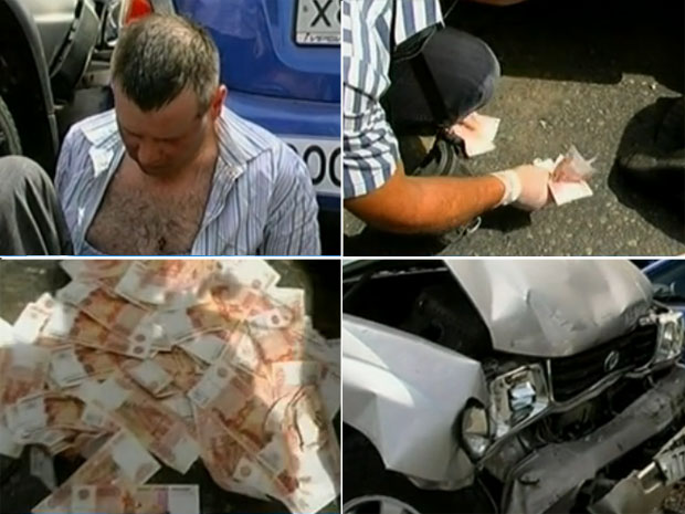 Boris Simonov foi preso depois de bater o carro