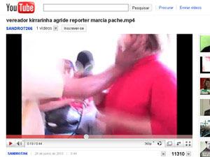 Momento da agressão foi registrado por cinegrafista