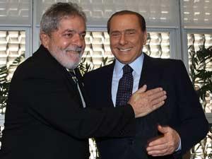 Lula se encontra com Silvio Berlusconi em São Paulo