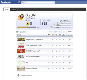 No Facebook, usuários poderão ver suas contas da PSN.
