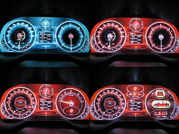 Software permite que motorista mude a cor de fundo do painel de intrumentos e escolha as informações que achar mais importantes