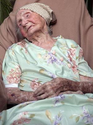 Eugenie Blanchard, 114 anos de idade, é a mulher mais idosa do mundo
