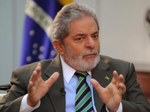 O presidente Lula durante entrevista à TV Brasil Internacional nesta quinta-feira (1º)