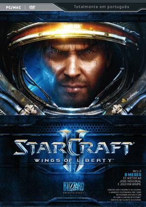 Capa brasileira de 'Starcraft II', game que chega no Brasil no mesmo dia que nos EUA, 27 de julho.