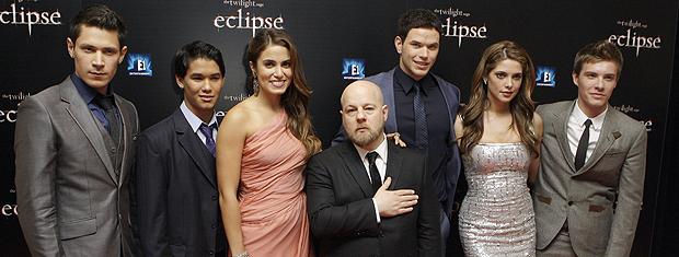 Elenco do filme 'Eclipse', a terceira parte de 'Crepúsculo', em première em Londres.