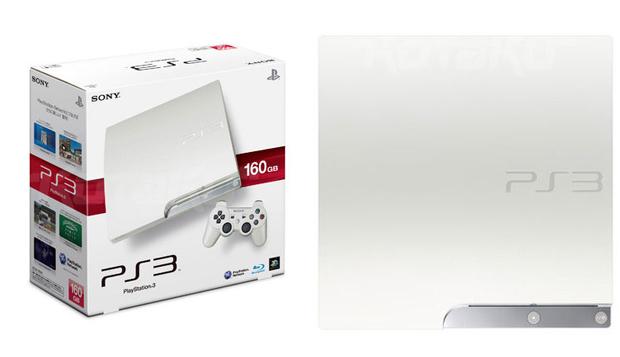 Enquanto o PS3 na cor 'Classic White' chega ao mercado japonês apenas na versão de 160 GB, o console na cor clássica será lançado com 320GB pelo equivalente a US$400.