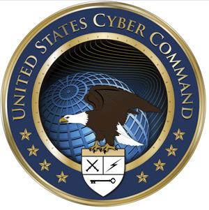 Código está no anel dourado no logotipo da organização. US Cyber Command tem pouco mais de um mês de existência.