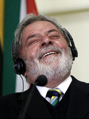 Lula em discurso em Joanesburgo
