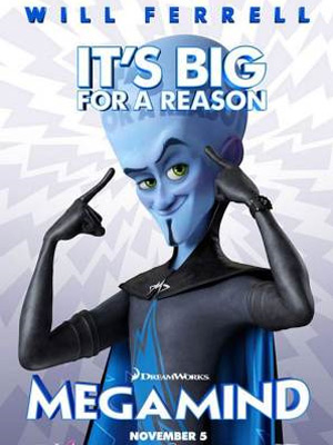 Cartaz da animação 'MegaMind', da DreamWorks, que deve sair em novembro de 2010