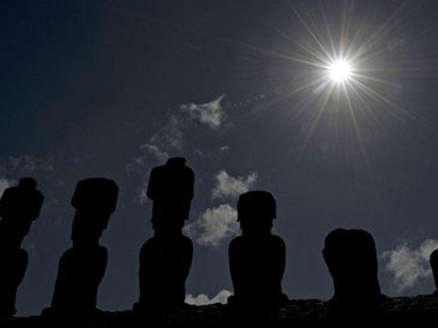 Eclipse na Ilha de Páscoa