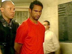 O goleiro Bruno, que está preso em Minas Gerais