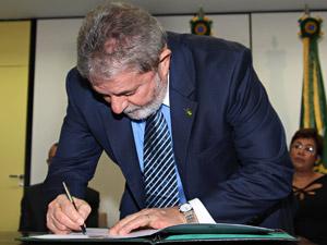Presidente Lula durante lançamento do edital de concorrência do projeto do Trem de Alta Velocidade