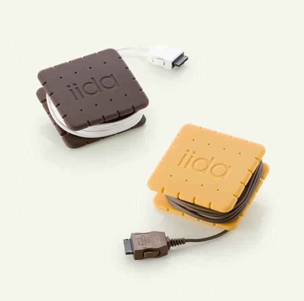 carregador em forma de biscoito