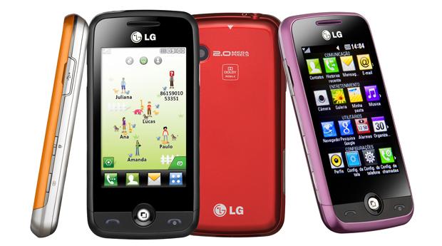 LG Cookie Plus GS290 tem cinco opções de cores.