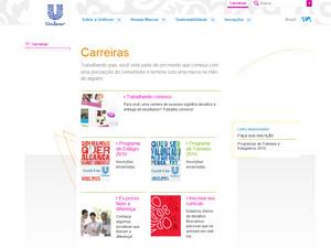 Unilever - página de vagas