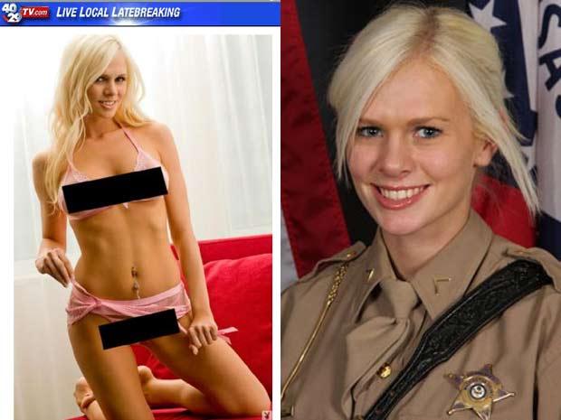Jessie Lunderby foi demitida por ter posado para a Playboy.