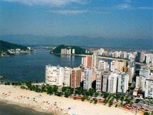 Vista aérea de São Vicente