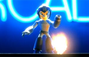 Cena do vídeo de apresentação 'Mega Man universe'.