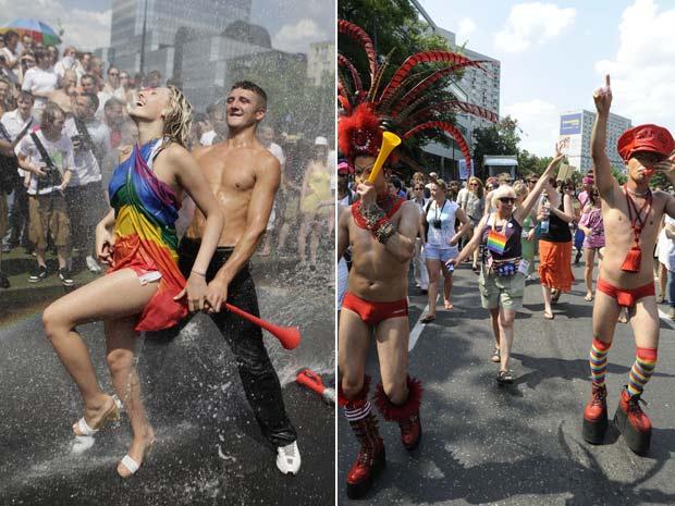 Mais de 15 mil pessoas participaram da Parada Gay em  Varsóvia.