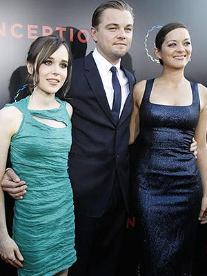 Ellen Page, Leonardo DiCaprio e Marion Cotillard: elenco fica em segundo plano.