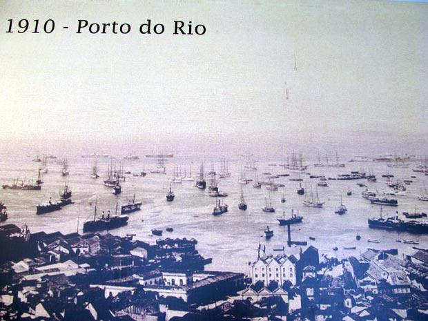 O Porto do Rio, em uma foto tirada há 100 anos.