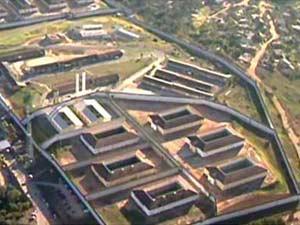 Vista aérea do Complexo Penitenciária Nelson Hungria, em Contagem