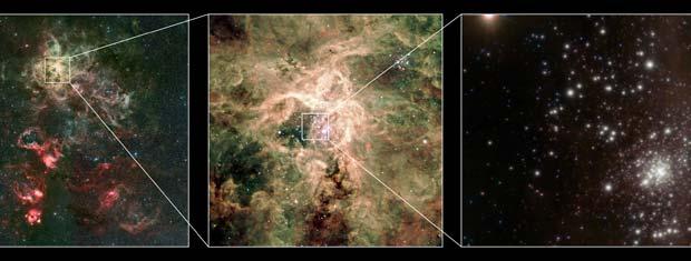 Ela também tem grande luminosidade, cerca de dez milhões de vezes maior que a do Sol