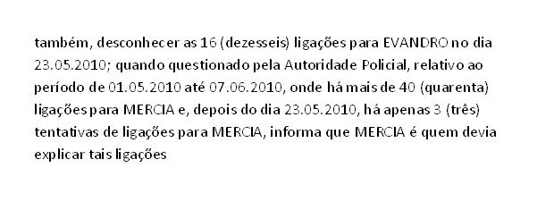 Depoimento de Mizael Bispo de Souza