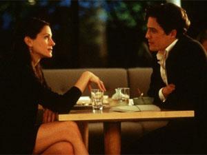 Hugh Grant e Julia Roberts em 'Um lugar chamado Notting Hill': destruindo relacionamentos.