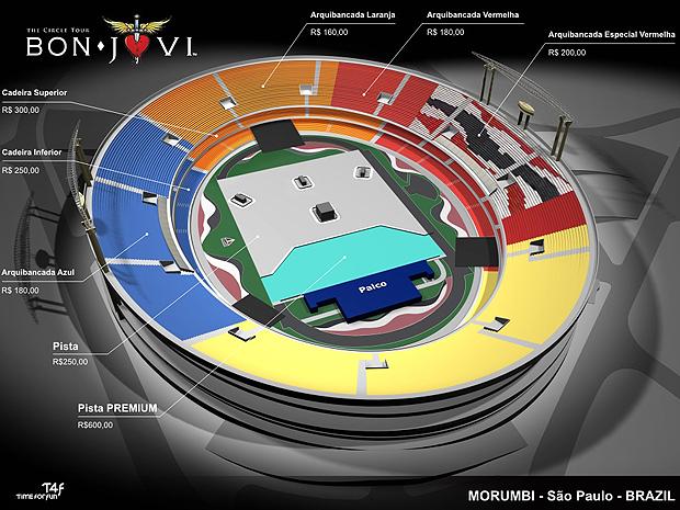 Show de Bon Jovi em São Paulo tem ingressos que vão de R$ 160 a R$ 250