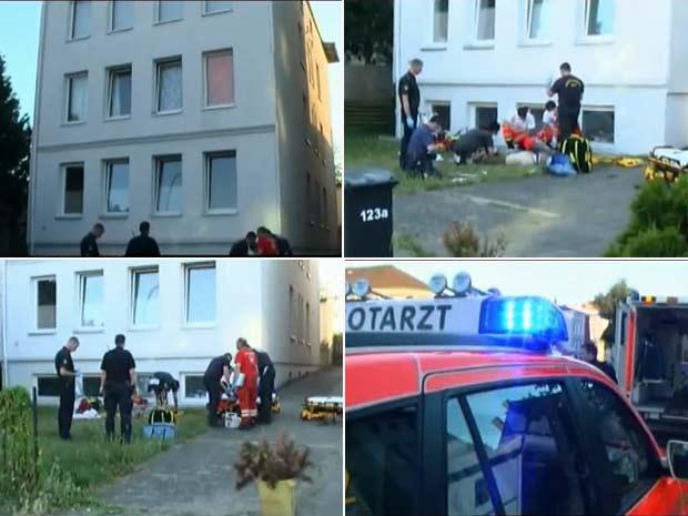 Casal foi levado para o hospital com ferimentos.