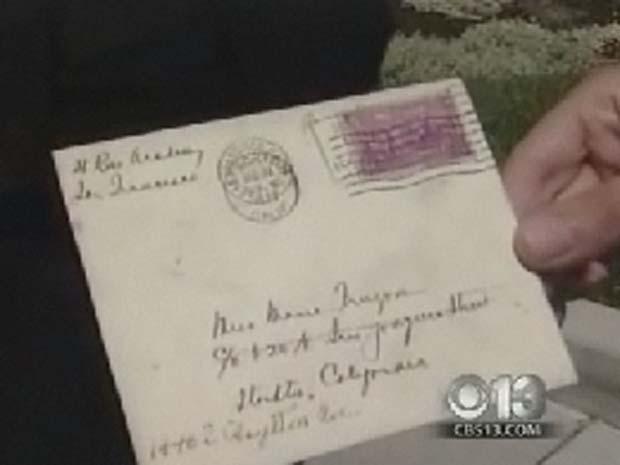 Carta foi entregue com atraso de mais de 70 anos.