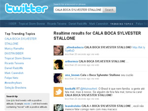 Stallone se transformou no assunto do dia no Twitter