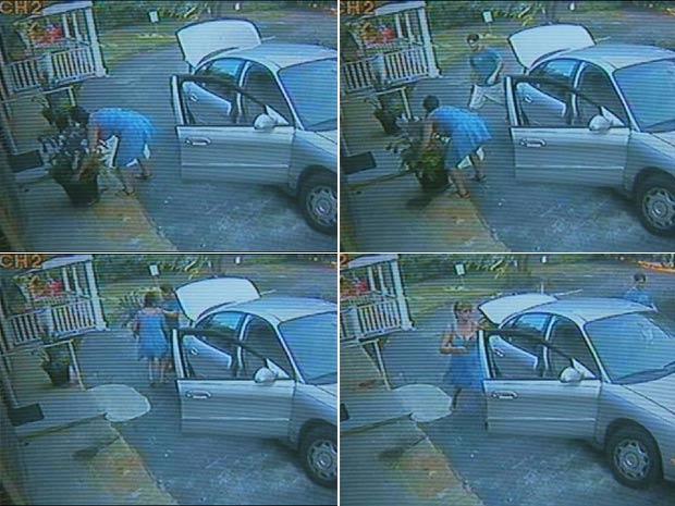 Casal foi flagrado roubando vasos de asilo.