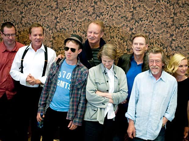 O diretor Lars von Trier e os atores Kiefer Sutherland, Brady Corbet, Stellan Skarsgard, Charlotte Rampling, Jesper Christensen, John Hurt e Kirsten Dunst
