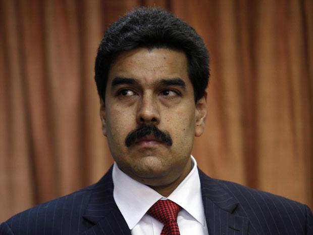 O chanceler da Venezuela, Nicolas Maduro, durante entrevista em Buenos Aires nesta terça-feira (27).