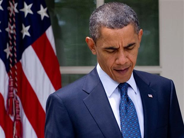 O presidente dos EUA, Barack Obama, dá entrevista nesta terça-feira (27) na Casa Branca.