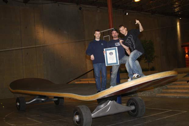 Skate foi reconhecido pelo Guinness como o maior do mundo.