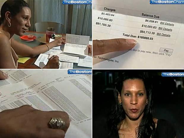 Mulher recebeu conta de mais de US$ 100 mil.